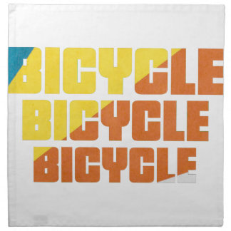 Queen's Bicycle Race Napkin