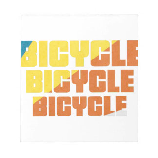 Queen's Bicycle Race Notepad