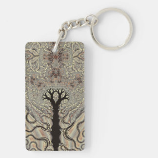 Queen's Chalice Double-Sided Rectangular Acrylic Key Ring