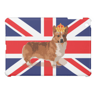 Queen's Corgi with Union Jack Flag ipad iPad Mini Case