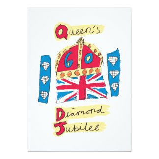 Queen's Diamond Jubilee 2012 Official Color Emblem Card