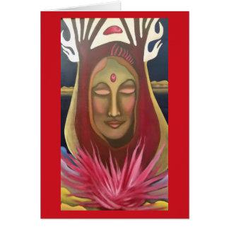 Queen's Fire Art Card