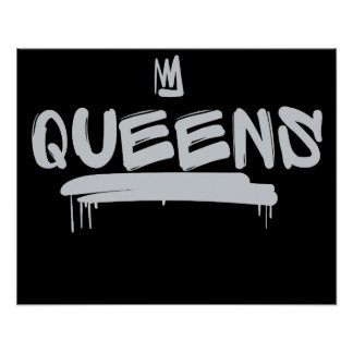 Queens graffiti tag poster