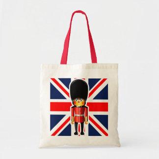 Queen's Guard Soldier Cartoon Budget Tote Bag