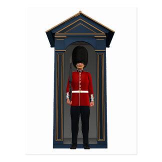 Queen's Guardsman In Shack Postcard