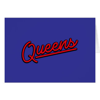 Queens in red greeting card