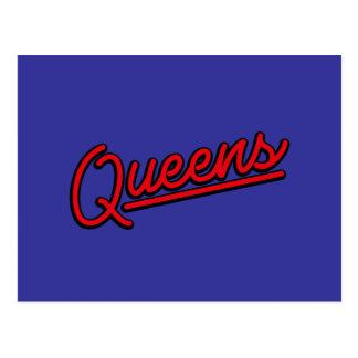 Queens in red postcard