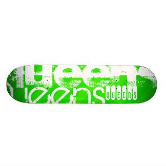 Queens; Neon Green Stripes Skateboards