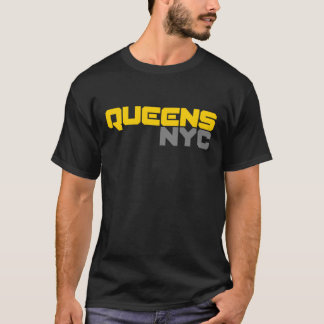 Queens NYC Bold Text T-Shirt