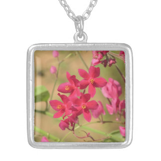 Queen's Wreath Blooms Silver Plated Necklace