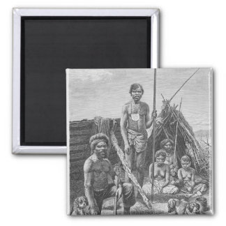 Queensland aborigines engraved from a photograph magnet