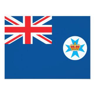 Queensland flag 14 cm x 19 cm invitation card
