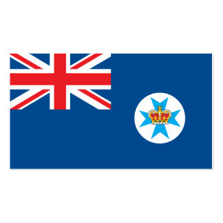 Queensland flag pack of standard business cards