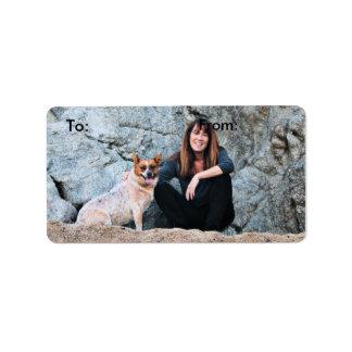 Queensland Red Heeler - Lucy Address Label