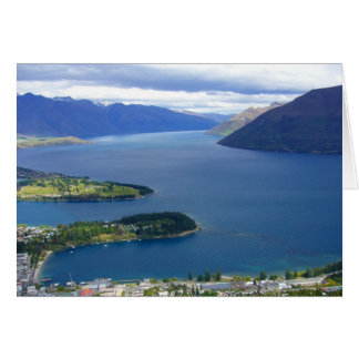 queenstown view greeting card