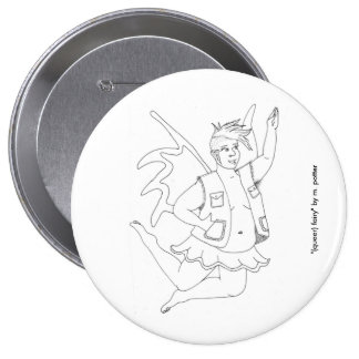 (queer) fairy button