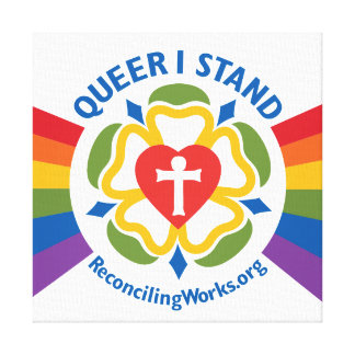 """Queer I Stand"" canvas print"