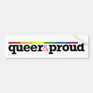 Queer&proud White Bumper Sticker