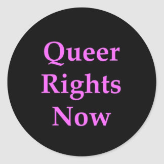 Queer Rights now Sticker