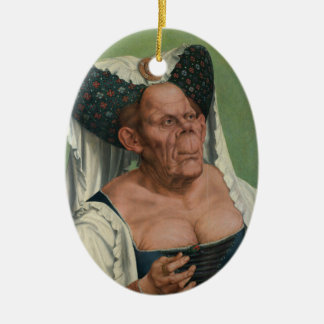 Quentin Massys - A Grotesque Old Woman, 1515 Ceramic Ornament