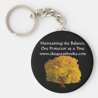 Quest Tree Keyring Basic Round Button Key Ring