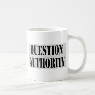 Question Authority Basic White Mug