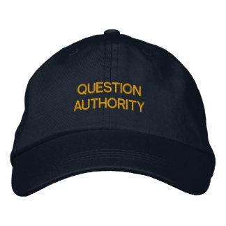 QUESTION AUTHORITY HAT BASEBALL CAP