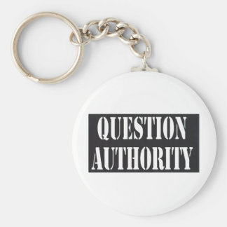 Question Authority Key Chain
