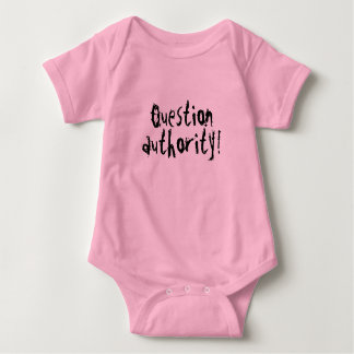 Question Authority One Piece Baby Bodysuit