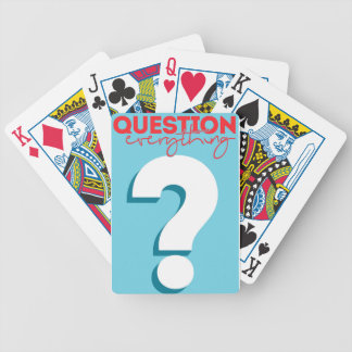 question bicycle playing cards
