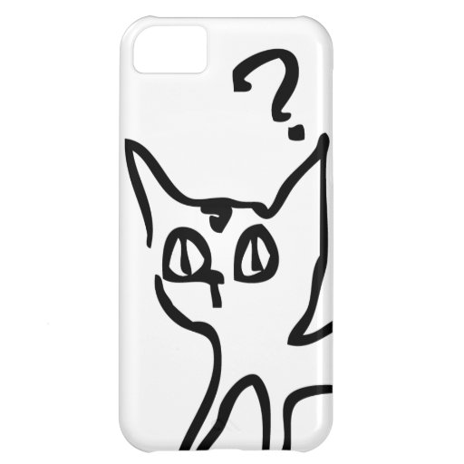 Question Cat Has Question iPhone 5C Cover