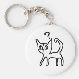 Question Cat Has Question Key Chain