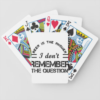 Question design cute bicycle playing cards
