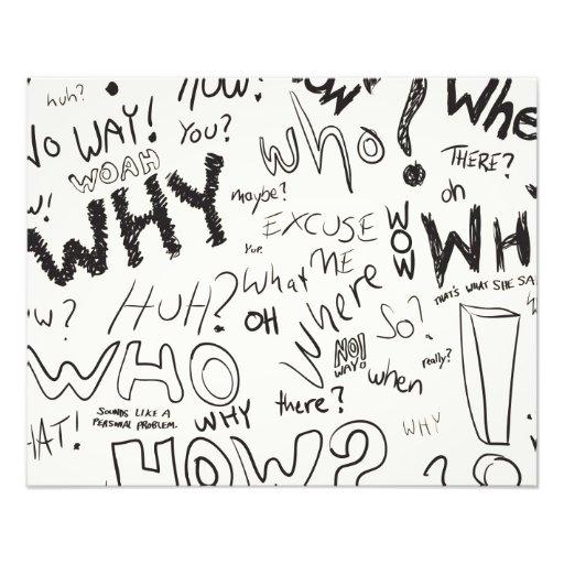Question Doodles Photograph