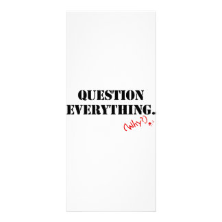 Question Everything 10 Cm X 23 Cm Rack Card