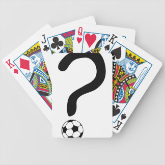 question mark3 bicycle playing cards