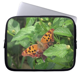 Question Mark Butterfly on Lantana Laptop Bag Laptop Sleeves