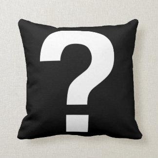 Question mark cushion