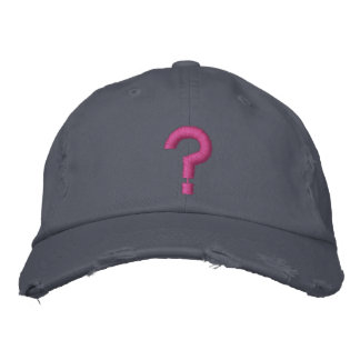 ? Question Mark Embroidered Symbol on Hat