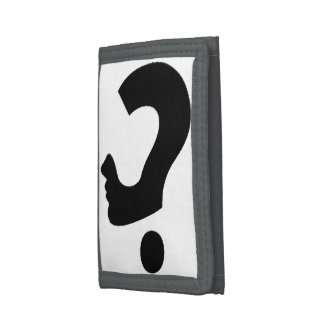Question Mark Head Trifold Wallets