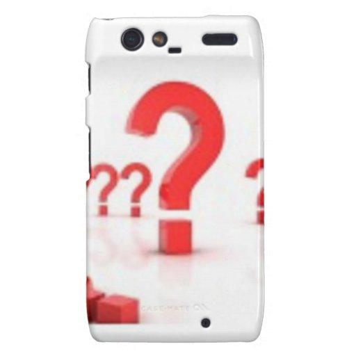 Question mark help motorola droid RAZR case