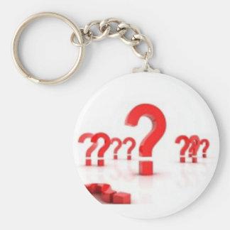 Question mark help key chain