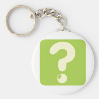 Question Mark Icon Basic Round Button Key Ring