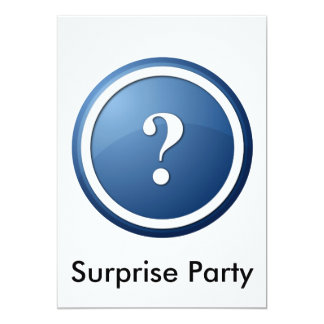 "question mark 5"" x 7"" invitation card"