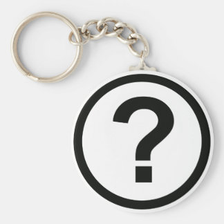 Question Mark Keychain Basic Round Button Keychain