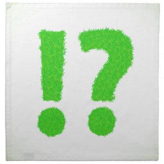 question mark napkin