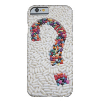 Question mark of pills on white pill background barely there iPhone 6 case