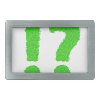 question mark rectangular belt buckle