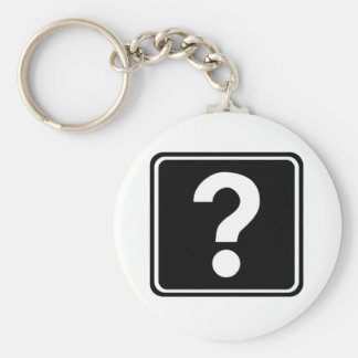 Question Mark Sign Key Chain