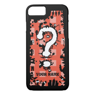 Question Mark with Cartoon Greeblies iPhone 7 Case